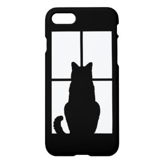Window Cat Click to Get any color decor iPhone 7 Case