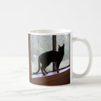Window cat coffee mug