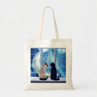 Window Cats Canvas Bags