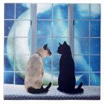 Window Cats Ceramic Tiles