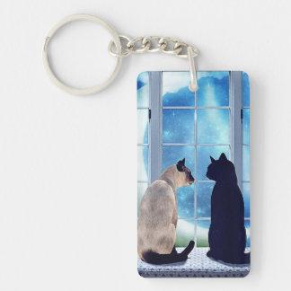 Window Cats Keychain