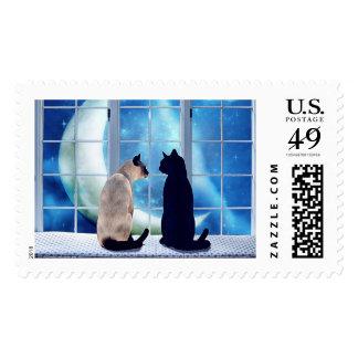 Window Cats Stamp