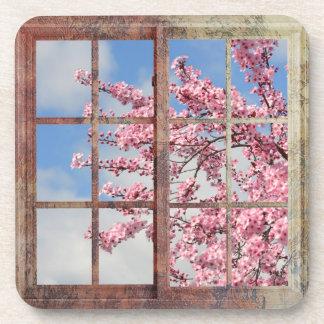 Window Cherry Blossom Tree Coaster