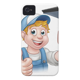 Window Cleaner Holding Squeegee iPhone 4 Cover