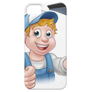 Window Cleaner Holding Squeegee iPhone SE/5/5s Case