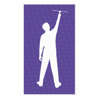 Window Cleaner Sillouette Business Cards