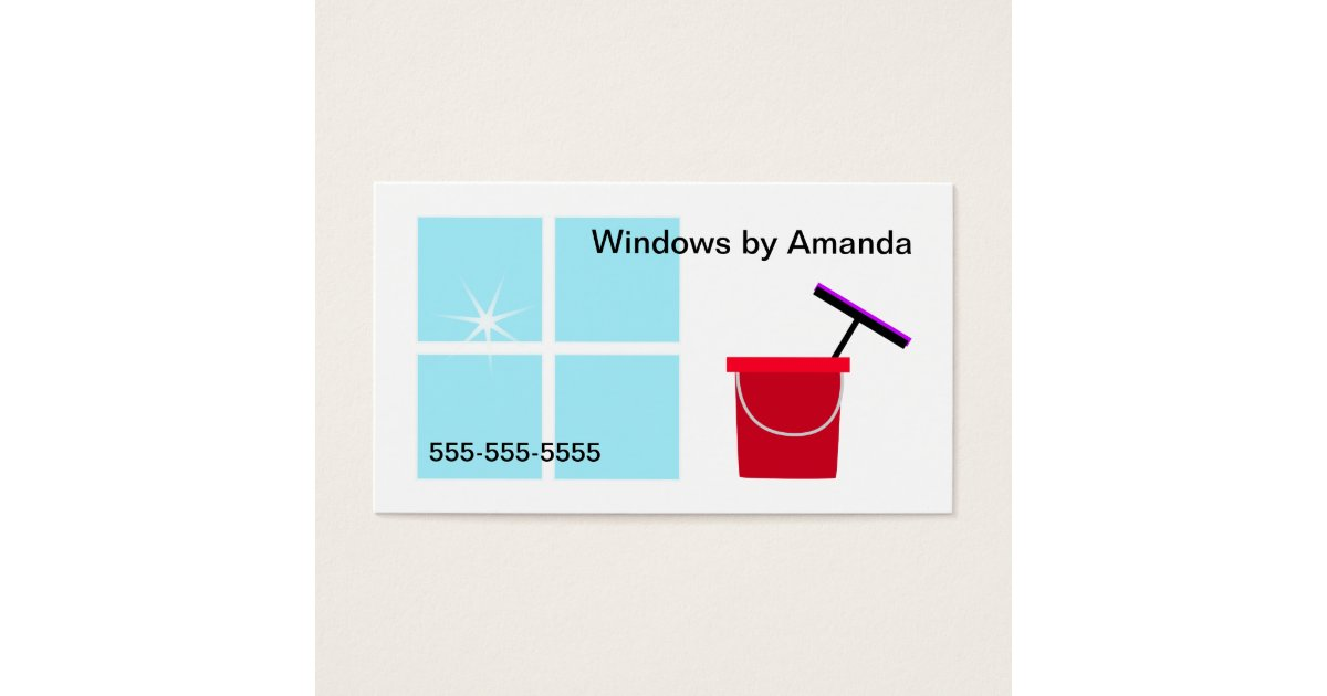 Window Cleaning Business Card | Zazzle.com