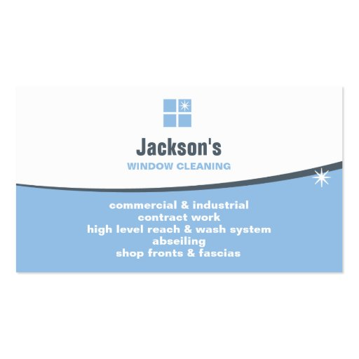 Window cleaning business card zazzle for Window cleaning business cards