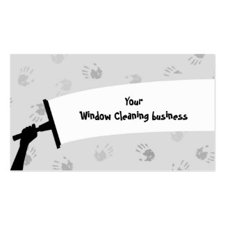 Window Cleaning Business Card Template
