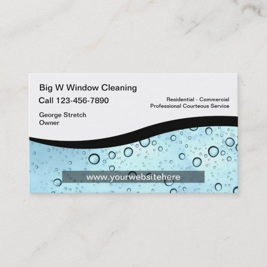 window cleaning business card