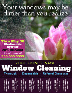 Window Cleaning Flyers | Zazzle