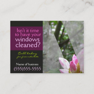 Window cleaning business cards zazzle window cleaning businessl card template dark friedricerecipe Gallery