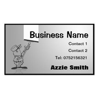 Window Cleaning/Decorating Business Card