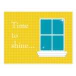 Window Cleaning Post Card YELLOW