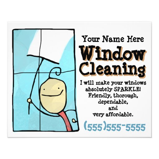 Window Cleaning Promotional Marketing Sales Flyer Zazzle