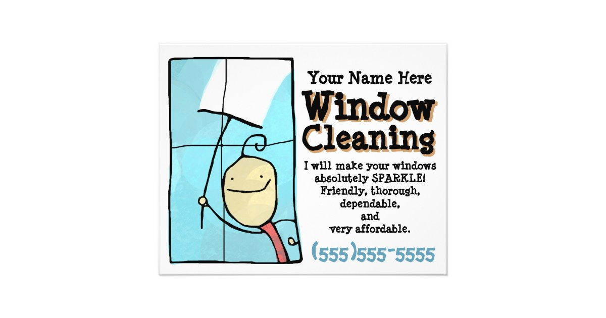 Window Cleaning Promotional Marketing Sales Flyer
