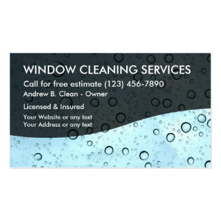 Window Cleaning Service Business Card