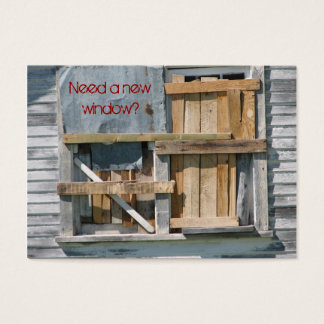 Window Construction Vintage Business Cards