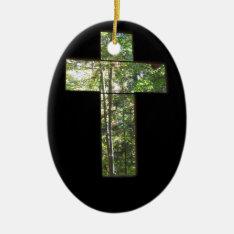 Window Cross Ceramic Ornament at Zazzle
