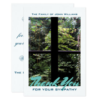 Window Cross on Nature Garden Sympathy Thank You Card