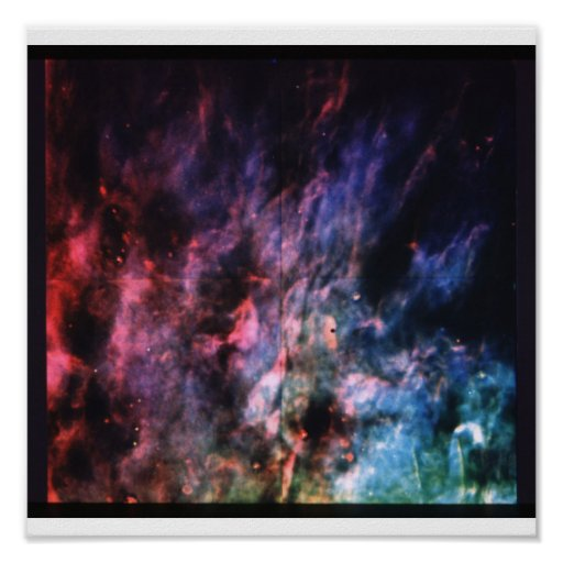 Window-Curtain' Structure of the Orion Nebula Poster