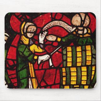 Window depicting a barrel seller, c.1300 mouse pad