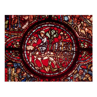 Window depicting a wine merchant post cards