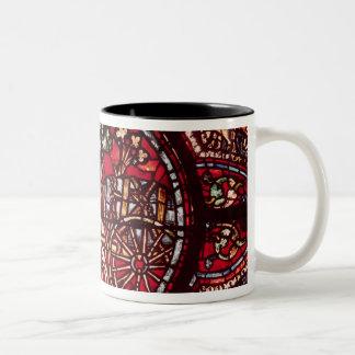 Window depicting a wine merchant Two-Tone coffee mug