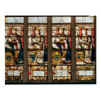 Window depicting Francois de Bourbon Post Card