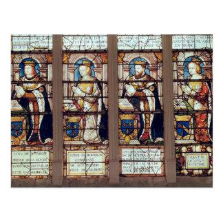 Window depicting Louis de Bourbon Postcard