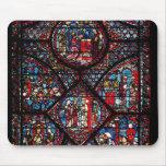 Window depicting scenes mouse pad