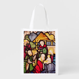 Window depicting the Adoration of the Magi Grocery Bag