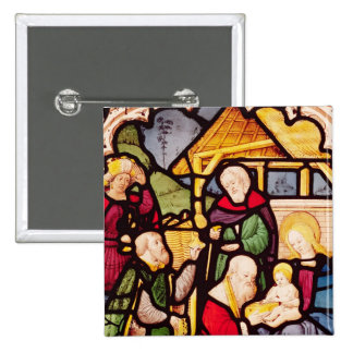 Window depicting the Adoration of the Magi Pinback Button