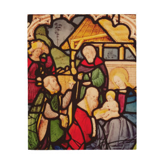 Window depicting the Adoration of the Magi Wood Wall Art