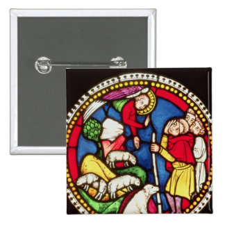 Window depicting The Annunciation to the 2 Inch Square Button