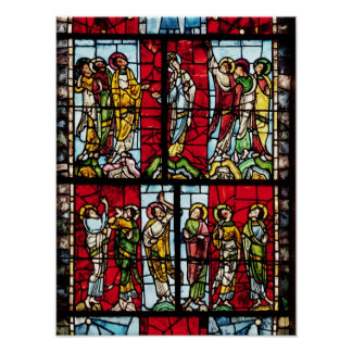 Window depicting the Ascension, c.1145 Poster