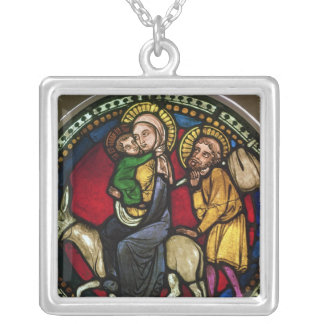 Window Depicting the Flight into Egypt Silver Plated Necklace
