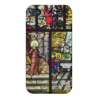 Window depicting the Gathering of the Manna iPhone 4 Case
