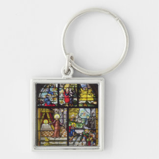 Window depicting the Gathering of the Manna Keychain