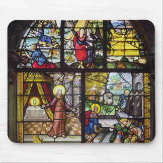Window depicting the Gathering of the Manna Mouse Pads