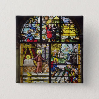 Window depicting the Gathering of the Manna Pinback Button