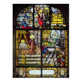 Window depicting the Gathering of the Manna Postcard