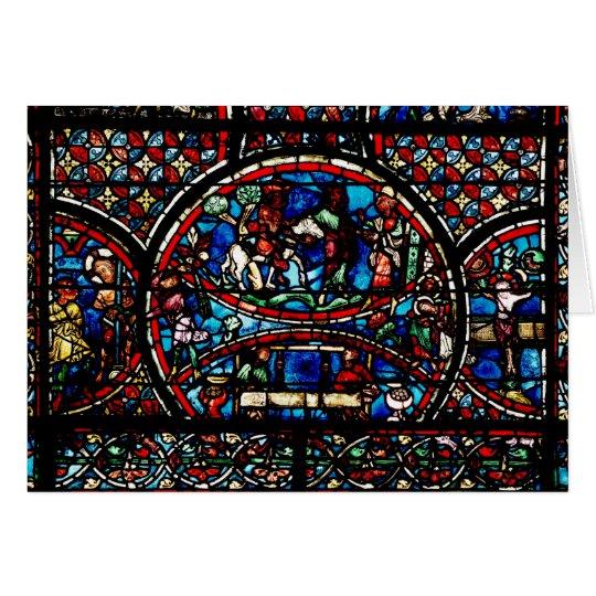 Window depicting the Good Samaritan Card