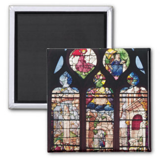 Window depicting the Nativity 2 Inch Square Magnet