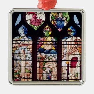 Window depicting the Nativity Metal Ornament