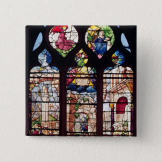 Window depicting the Nativity Pinback Button