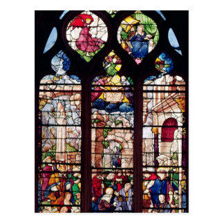 Window depicting the Nativity Postcard