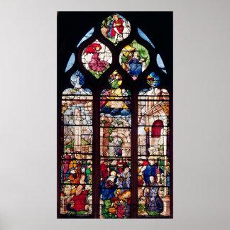 Window depicting the Nativity Print