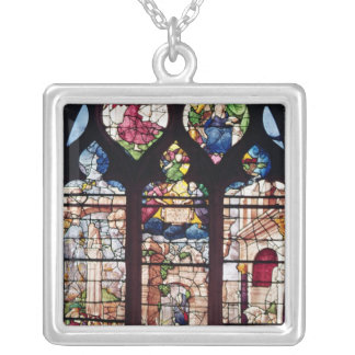 Window depicting the Nativity Silver Plated Necklace