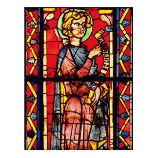 Window depicting the prophet Obadiah, c.1270-75 Postcard